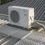 Defender™ walkway provides a stable base for technicians to maintain AC's.