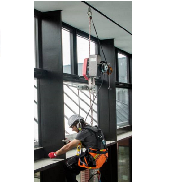 safe access c, trolley, abseiling, false ceiling, building maintenance unit
